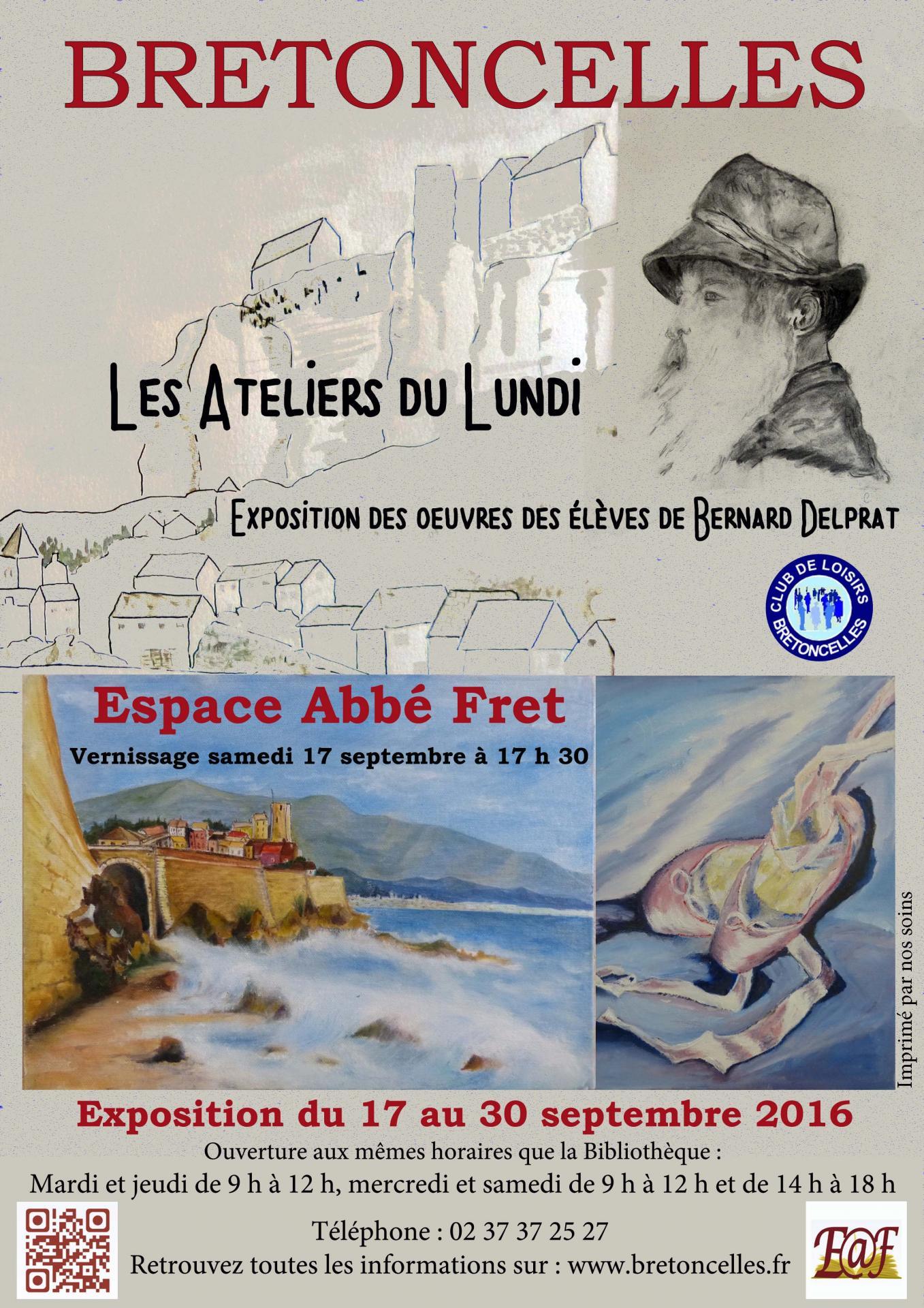 Affiche club de loisirs expo les ateliers du lundi 3
